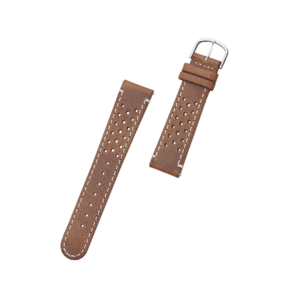 ORLO Bowen Steel Brown læder urrem brun / cognac 20 mm
